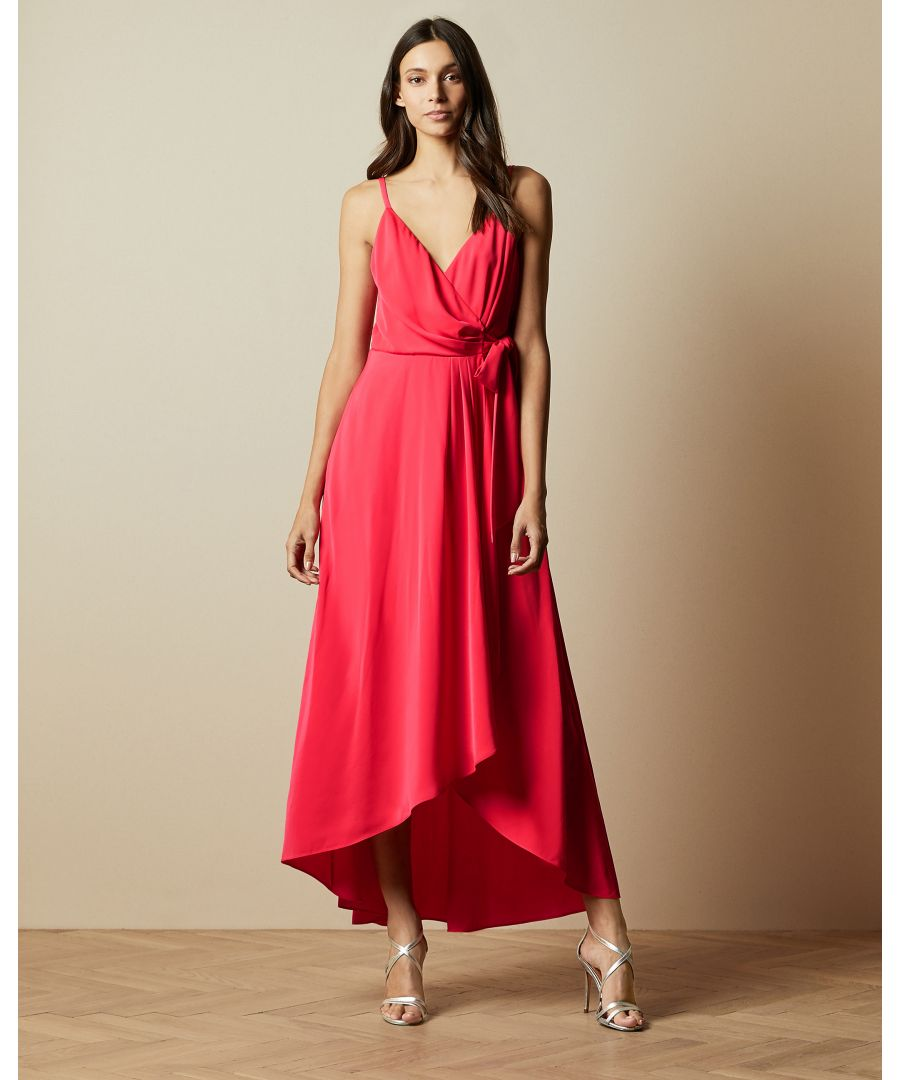 Image for Ted Baker Leaanah Dipped Hem Wrap Maxi Dress, Coral