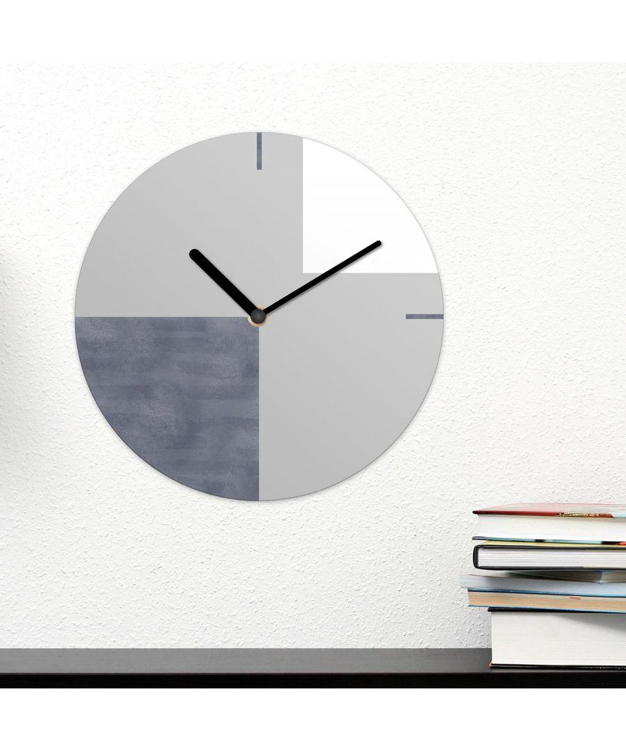 Image for Modern Grey Shapes Geometric Wall Clock