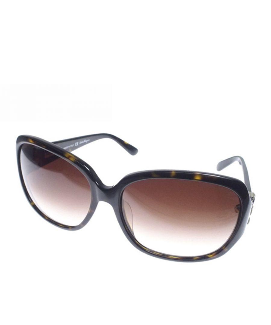 Image for Vintage Ferragamo Vara Ribbon Sunglasses Brown