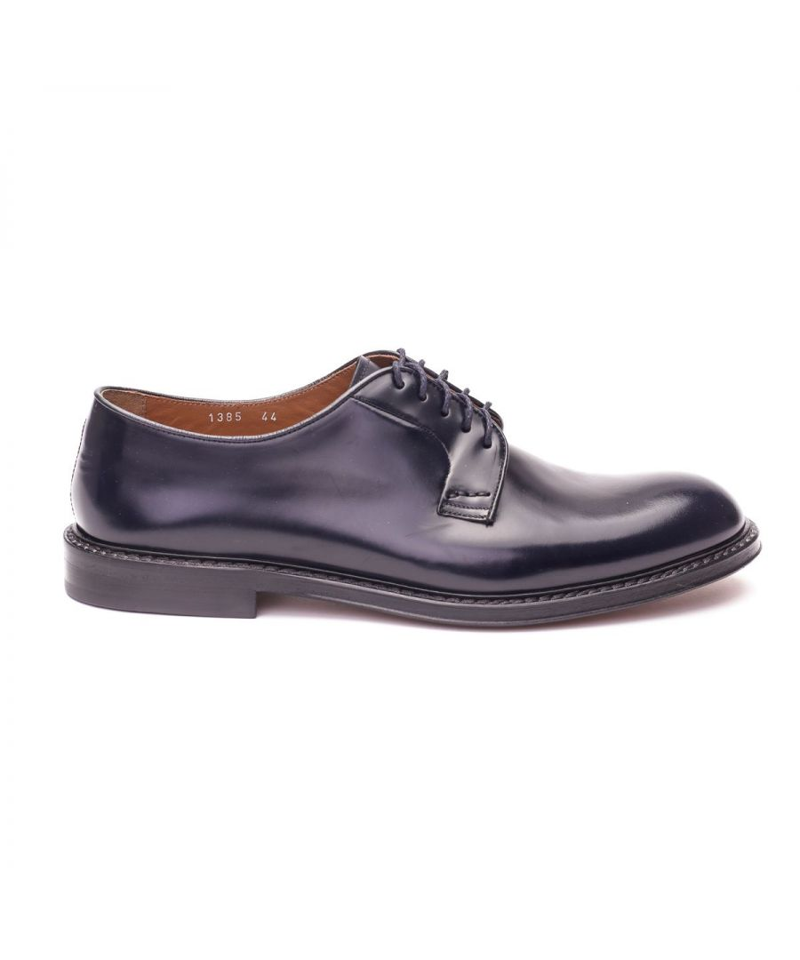 Image for DOUCAL'S MEN'S DU1385PHOEUY007NB02 BLUE LEATHER LACE-UP SHOES