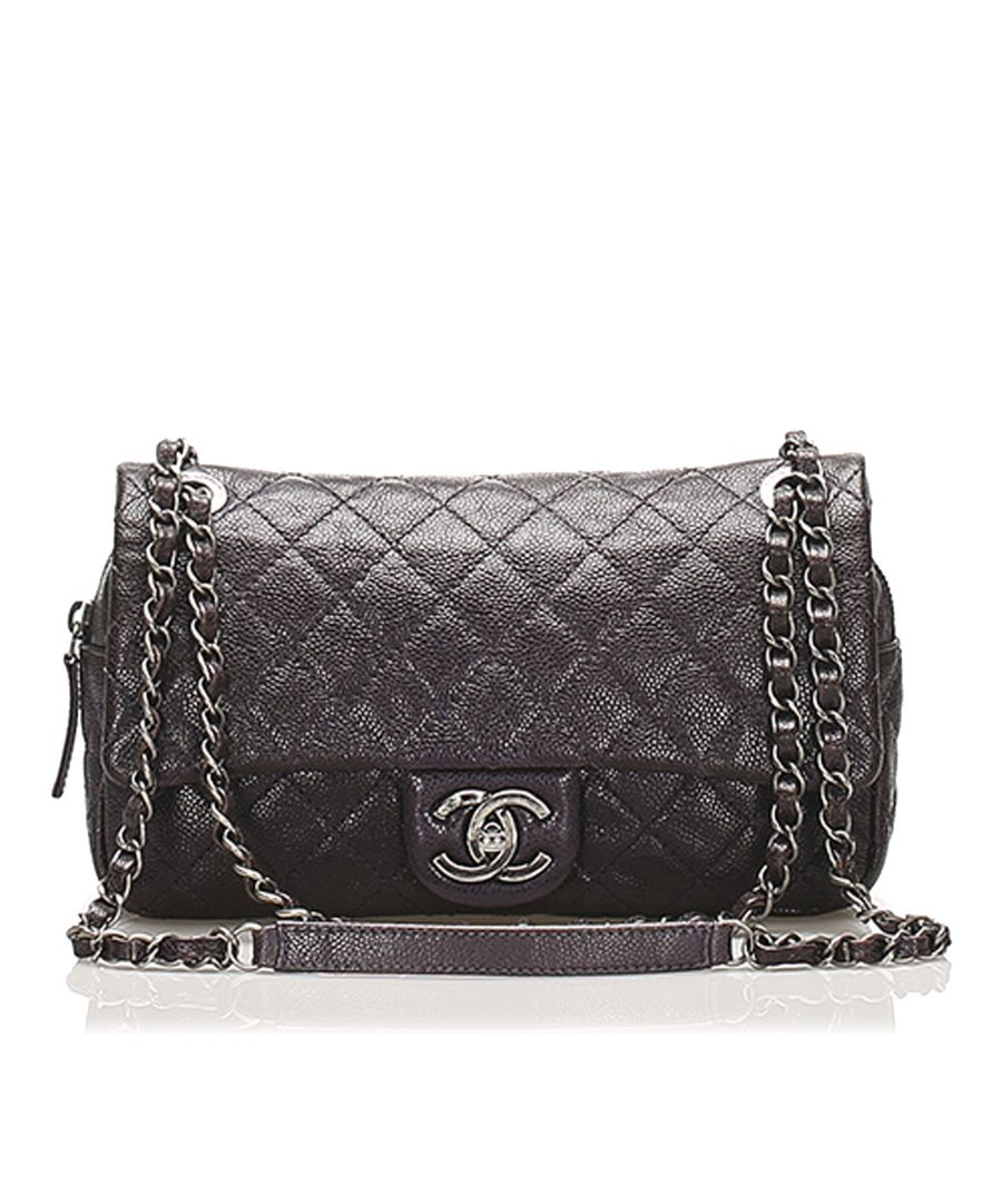 Image for Vintage Chanel Small Classic Caviar Leather Double Flap Bag Black