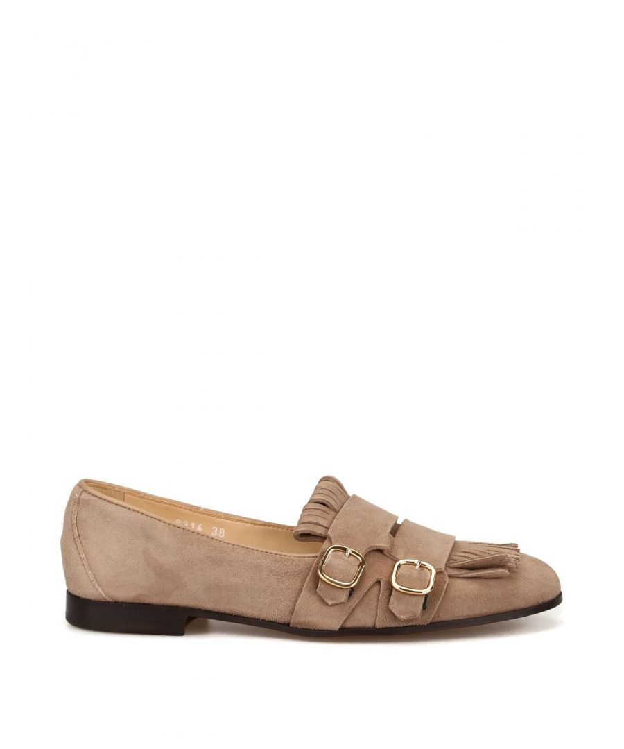 Image for DOUCAL'S WOMEN'S 8314MEGANF064TW08 BEIGE SUEDE LOAFERS