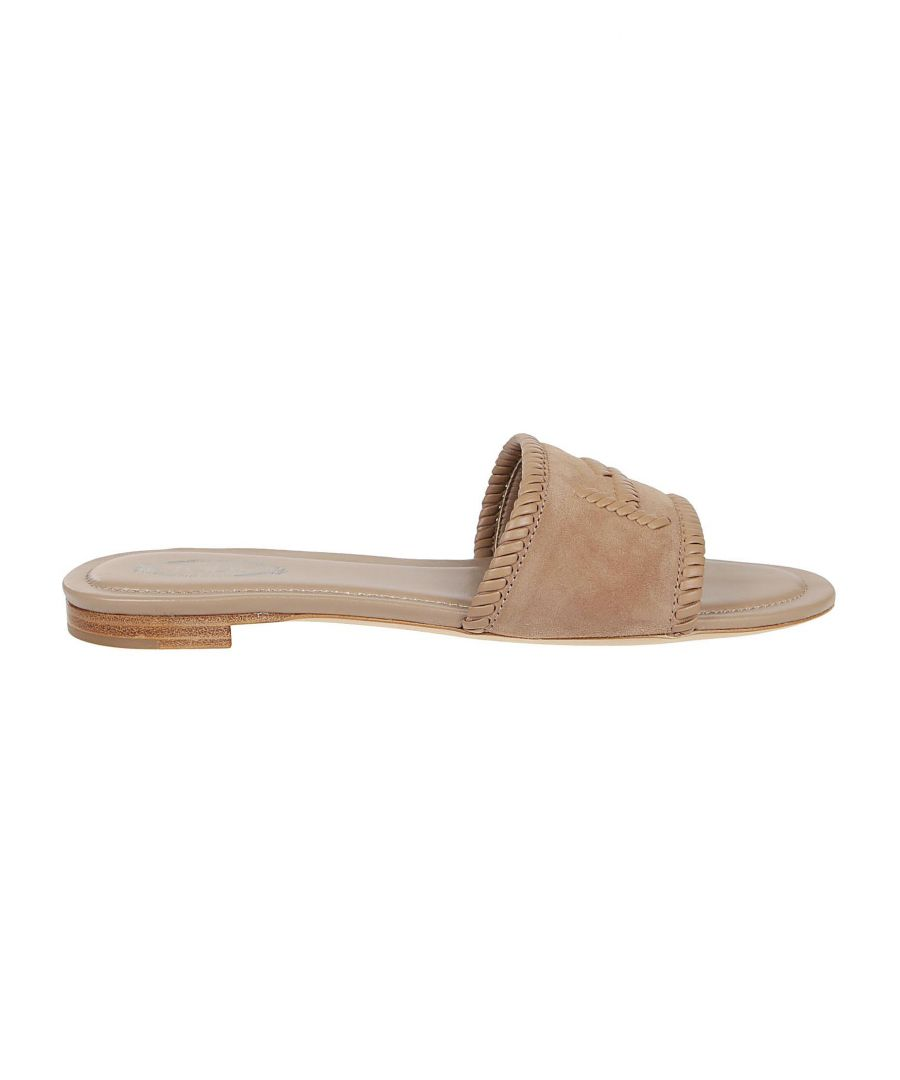 Image for TOD'S WOMEN'S XXW37B0DA20D8WC806 BEIGE LEATHER SANDALS