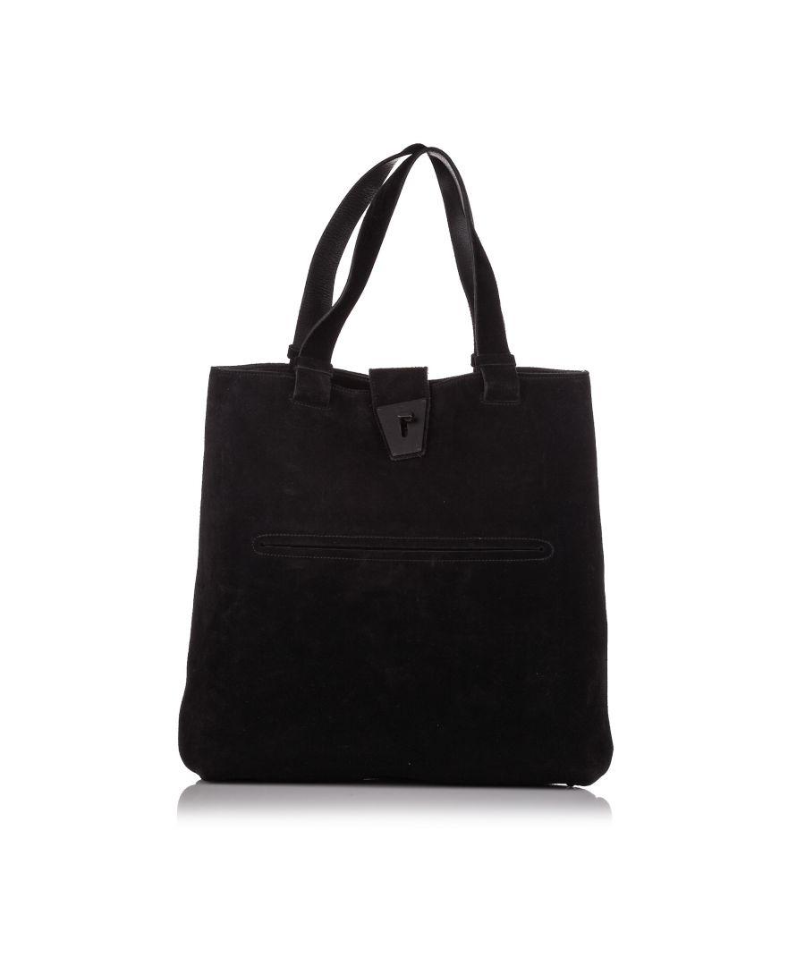 Image for Vintage Gucci Velvet Tote Bag Black