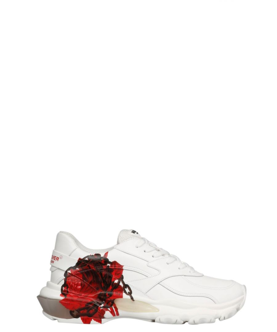 Image for VALENTINO WOMEN'S SW0S0I55YAJ07K WHITE LEATHER SNEAKERS