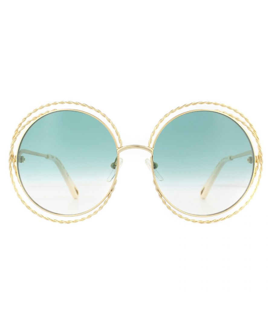Image for Chloe Sunglasses Carlina Twist CE114ST  871 Gold Petrol Gradient