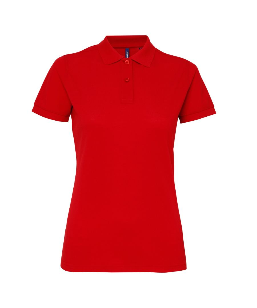 Image for Asquith & Fox Womens/Ladies Short Sleeve Performance Blend Polo Shirt (Red)