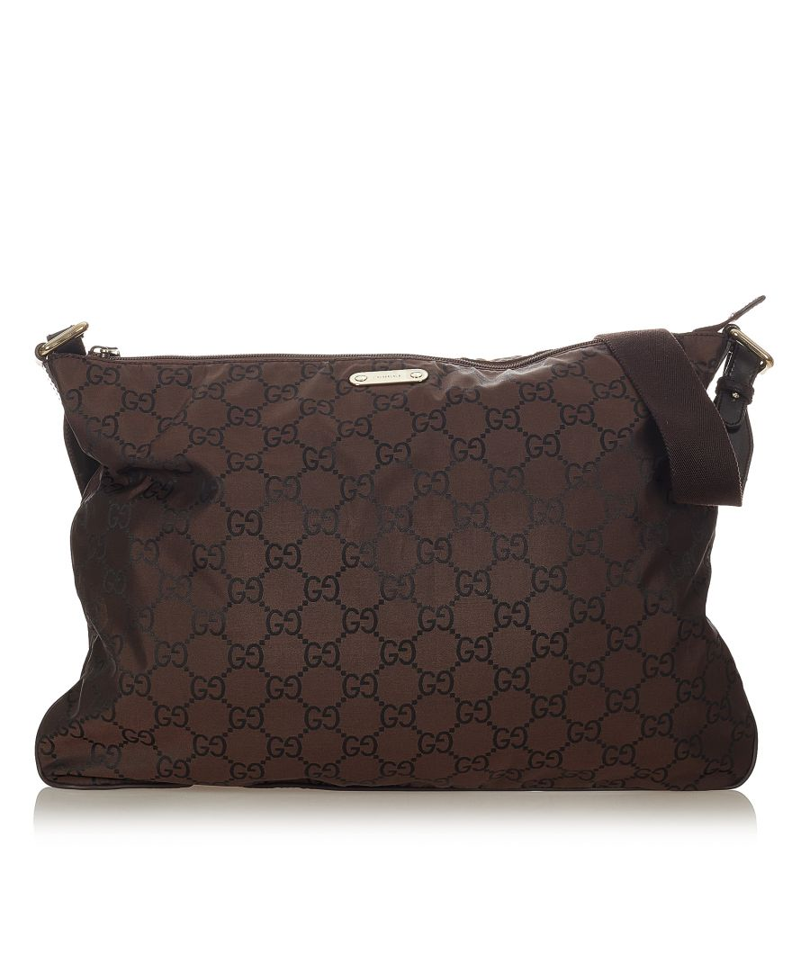 Image for Vintage Gucci GG Nylon Crossbody Bag Brown
