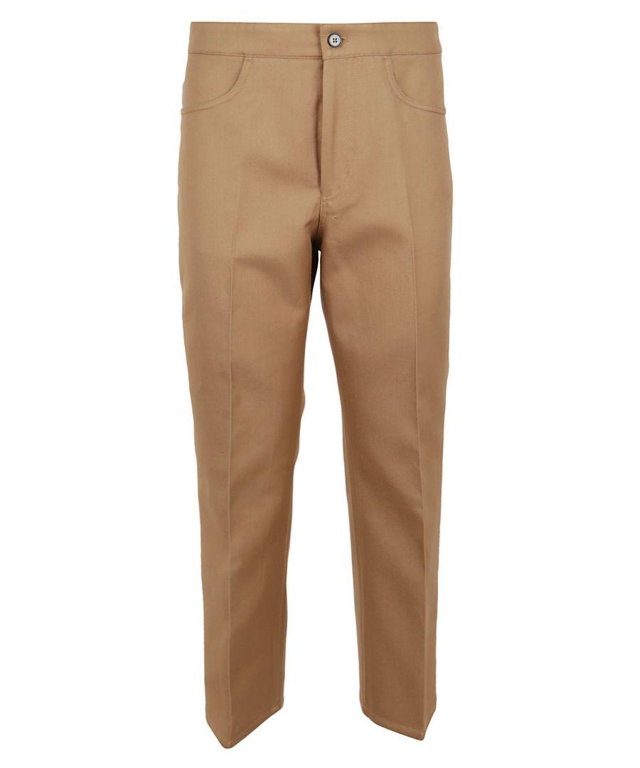 Image for JIL SANDER WOMEN'S JSPQ301705WQ241203262 BEIGE COTTON PANTS