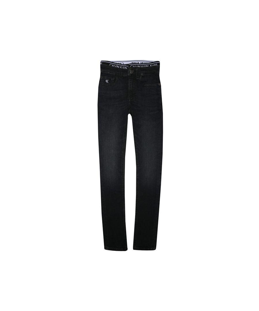 Image for Boys' calvin klein infant super skinny jeans in black
