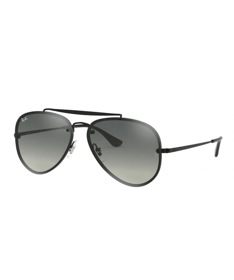 Image for Rayban Blaze aviator Sunglasses in black with grey lens