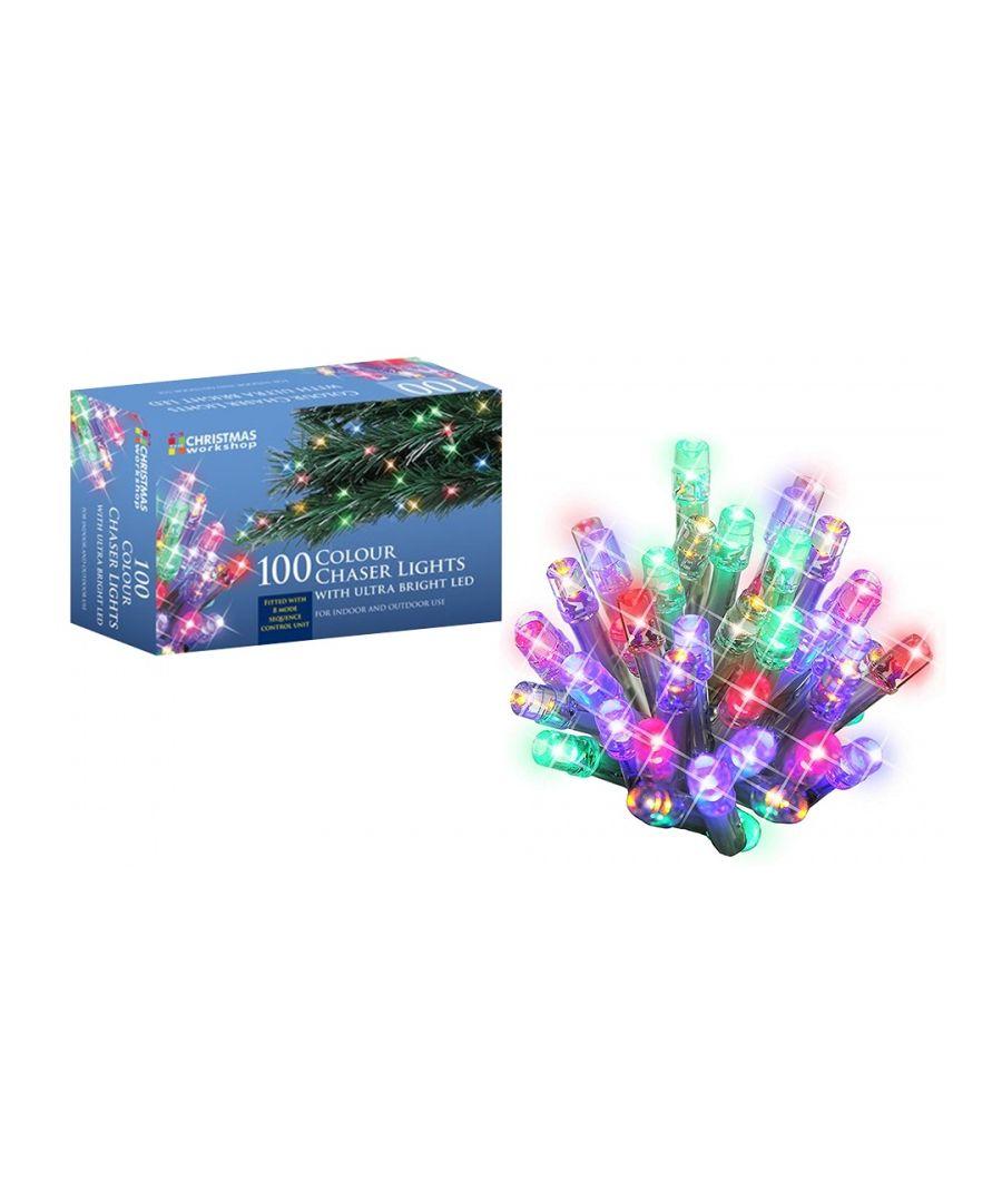 Image for 100 LED String Chaser Ultra Bright Lights Multi-Coloured