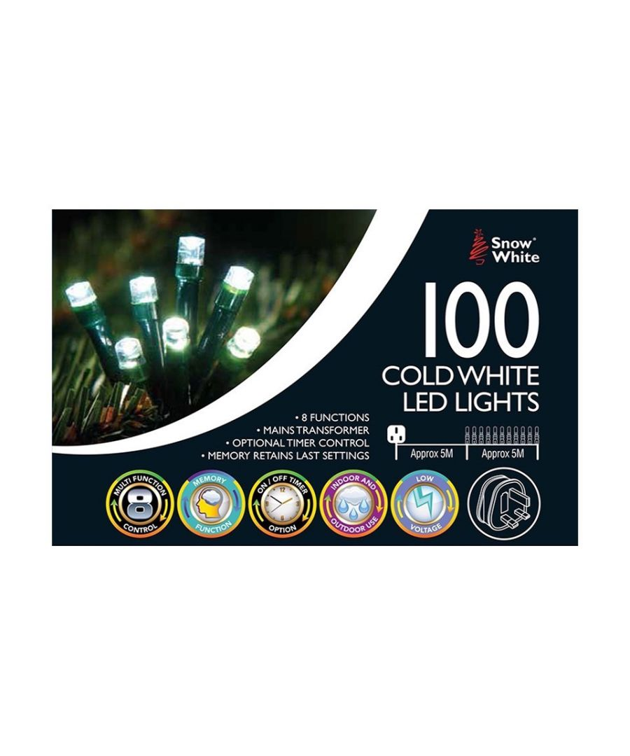 Image for 100 LED Mains Operated Lights Cold White