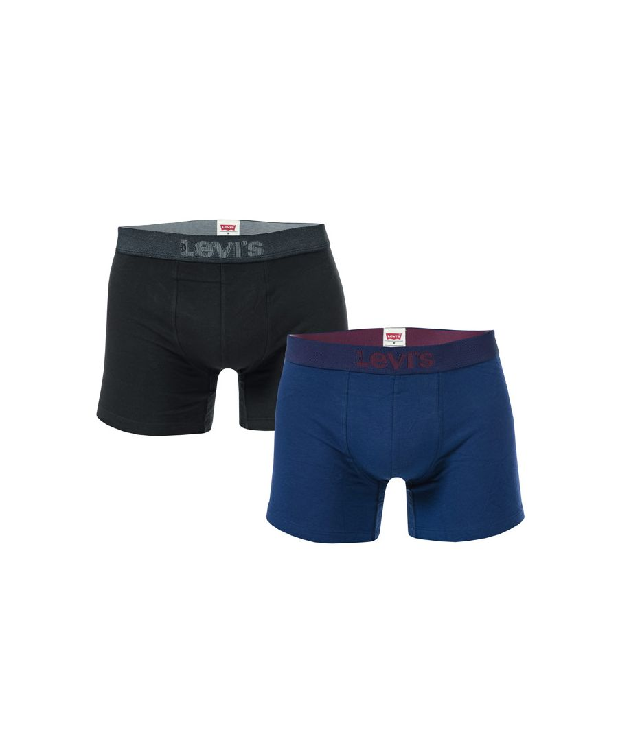 Image for Men's Levis 2 Pack Boxer Shorts in Blue