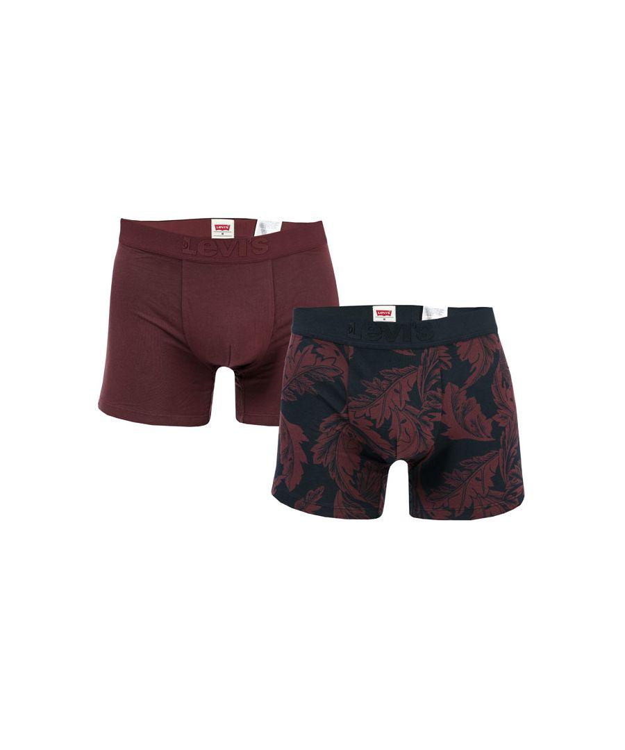 Image for Men's Levi's Premium 2 Pack Boxer Shorts In Wine