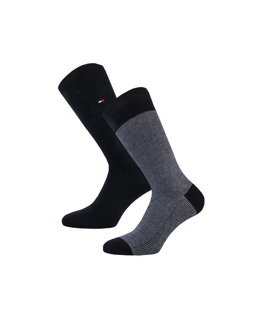 Image for Men's Tommy Hilfiger Bird Eye 2 Pack Bird Socks in Black