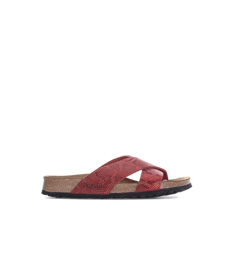 Image for Women's Papillio Daytona Leather Sandals Narrow Width in Red