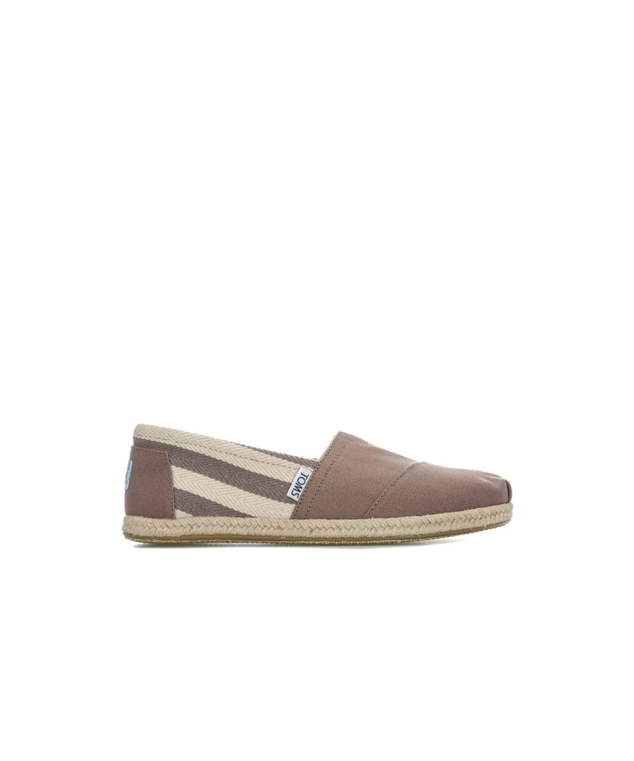 Image for Women's Toms Classics Stripe University Espadrille Pumps in Grey