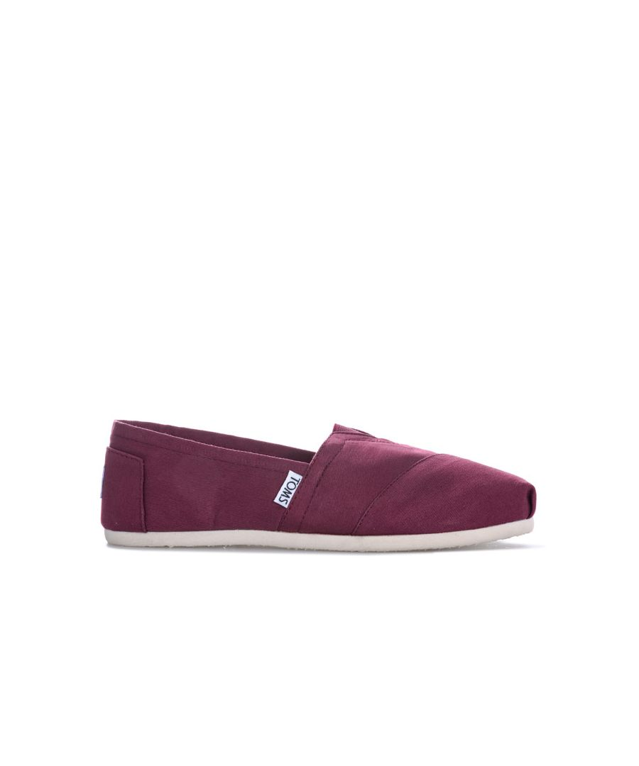 Image for Women's Toms Twill Espadrille Pumps in Burgundy
