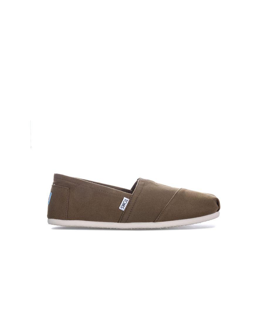 Image for Men's Toms Classic Alpergata Slip On Espadrille Shoes in Khaki