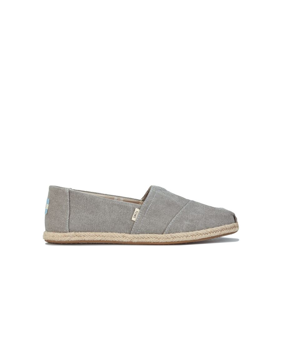 Image for Women's Toms Washed Canvas Espadrille Pumps Grey UK 3.5in Grey