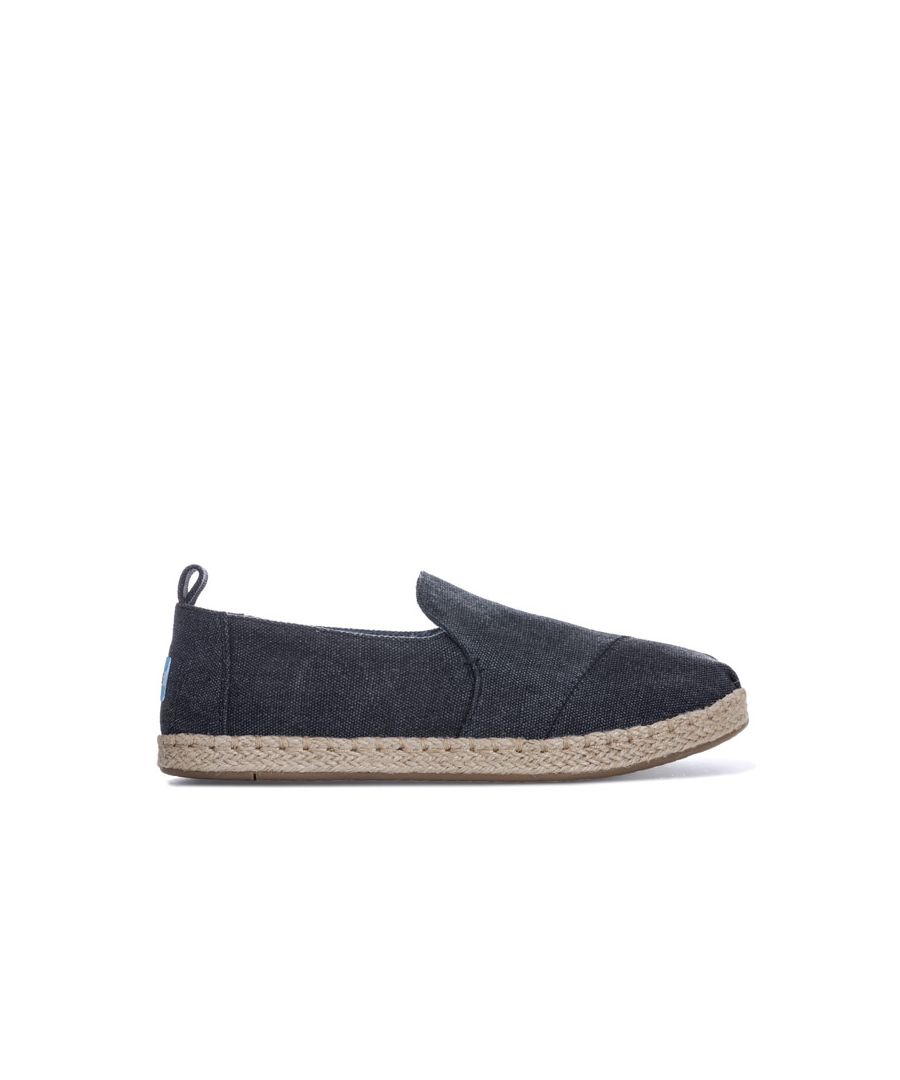 Image for Women's Toms Canvas Desconstructed Espadrille Pumps in Black