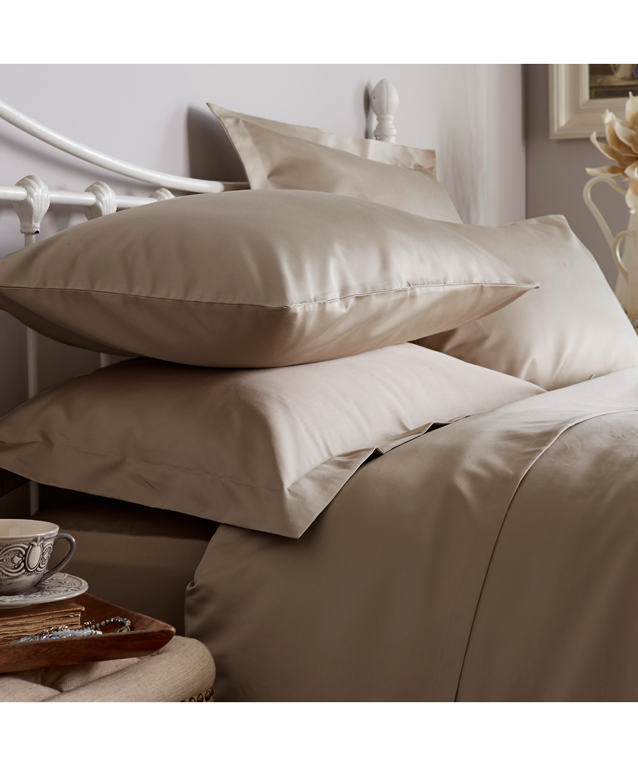 Image for 1000 Thread Count Fitted Sheet - Super King - Flax