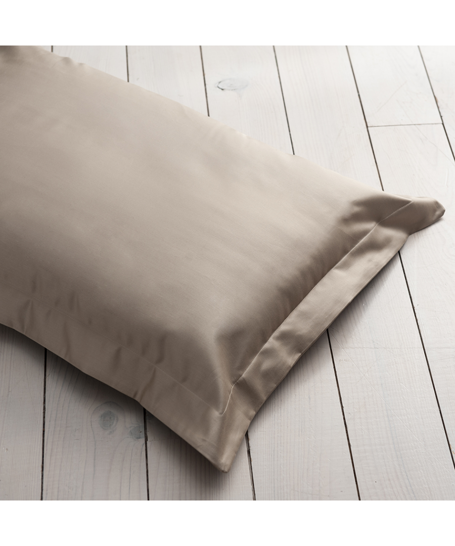 Image for 1000 Thread Count Oxford Pillowcase - Single -Flax