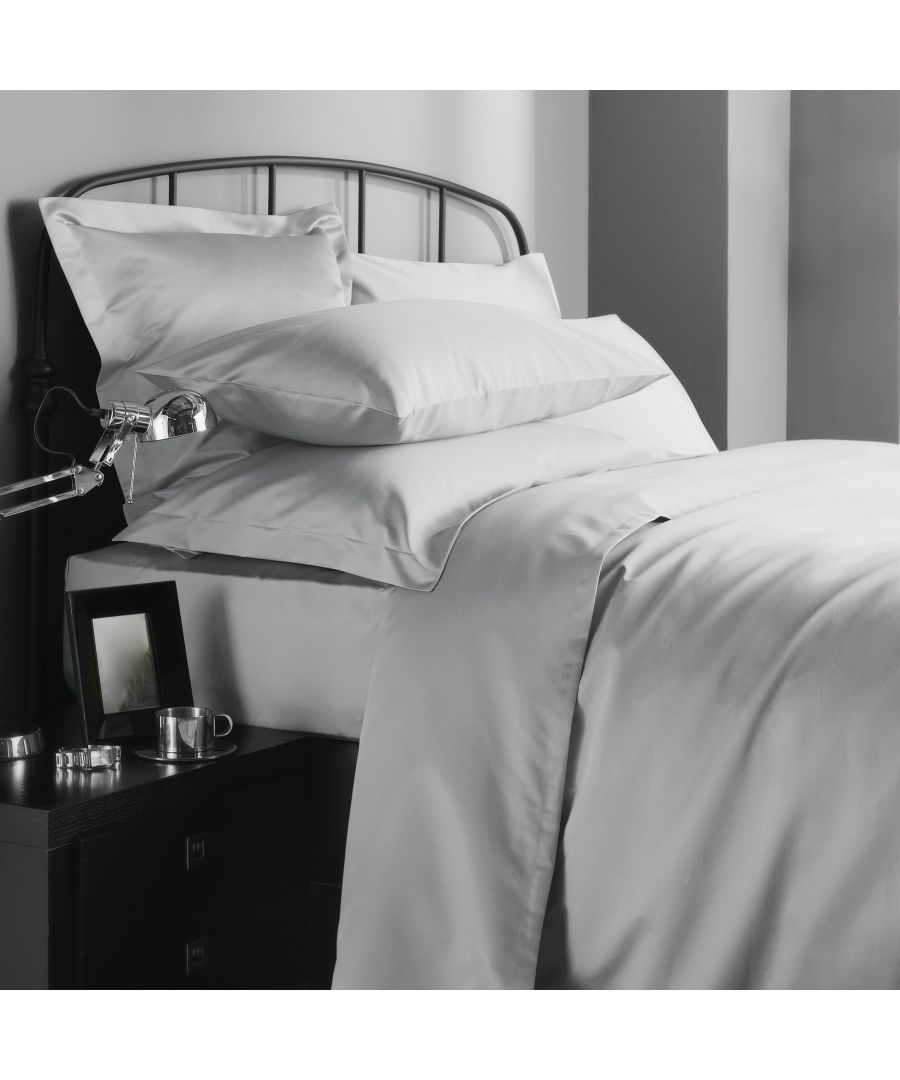 Image for 1000 Thread Count Flat Sheet Super King - Ice Grey