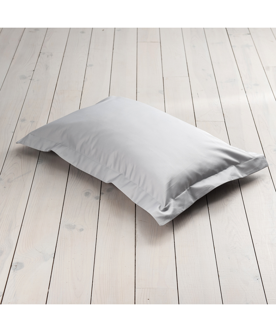 Image for 600 Thread Count Oxford Pillowcase - Single -Ice Grey