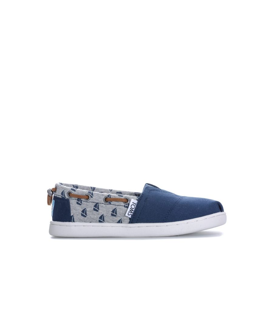 Image for Boy's Toms Junior Sailboat Espadrille Shoes in Navy