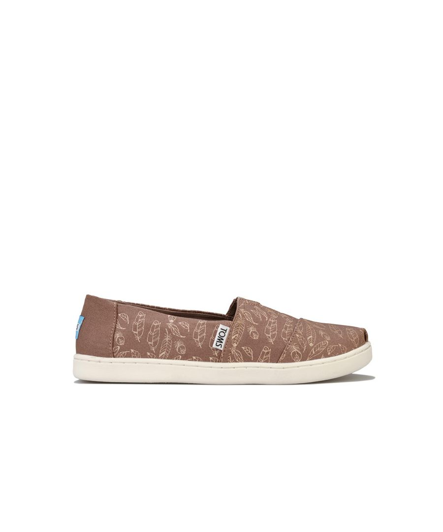 Image for Girl's Toms Children Foil Feathers Pumps in Brown