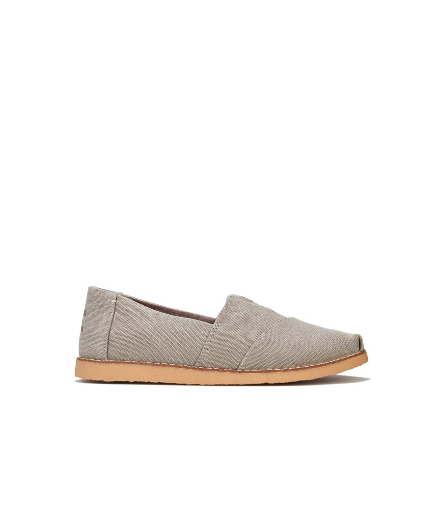 Image for Women's Toms Washed Canvas Crepe Espadrille Pumps in Grey