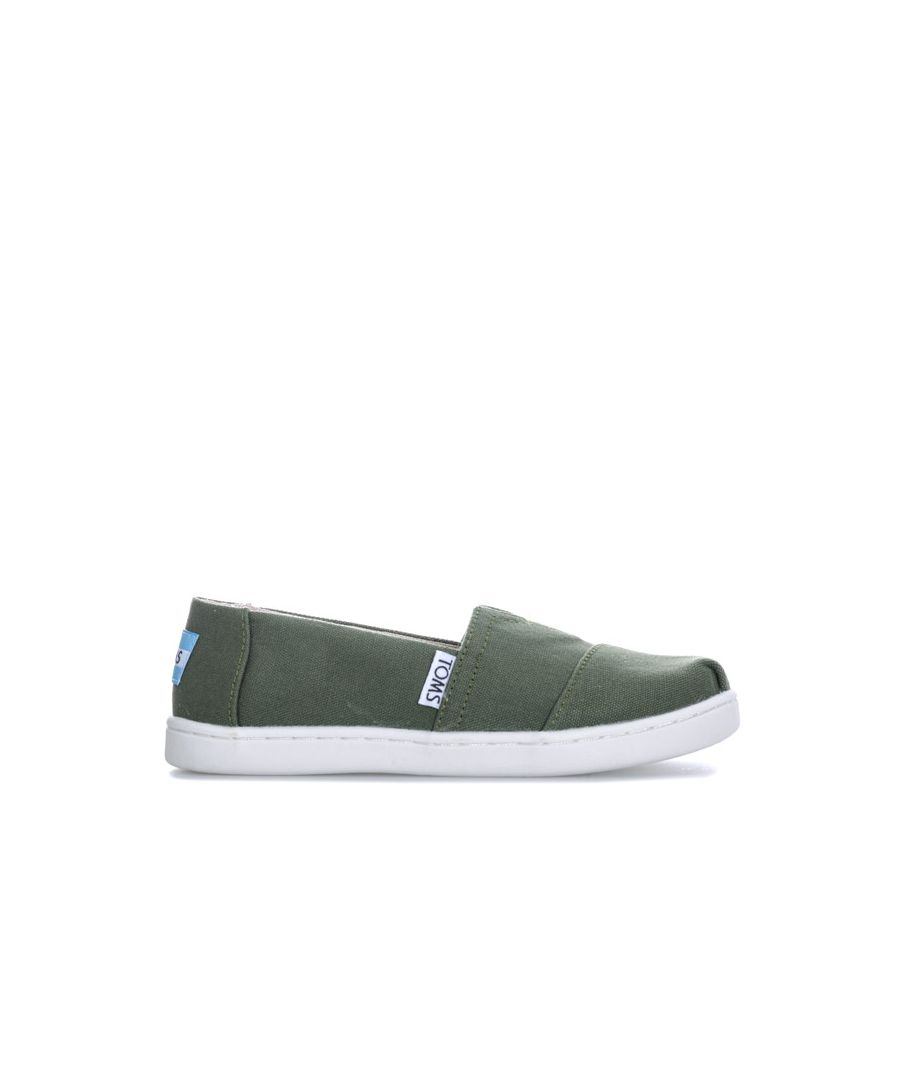Image for Boy's Toms Junior Classic Alpergate Slip Espadrille Shoes in Khaki