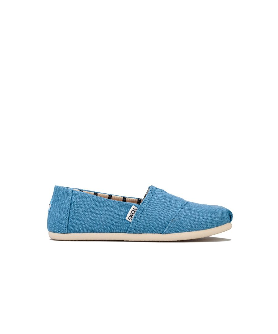 Image for Boy's Toms Childrens Heritage Pumps in Blue