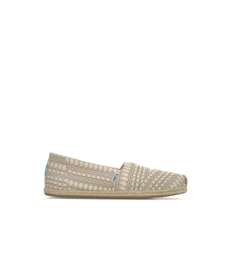 Image for Women's Toms Classics Diamond Espadrille Pumps in Tan