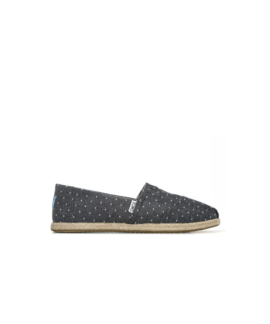 Image for Women's Toms Dot Chambray Espadrille Pumps in Black