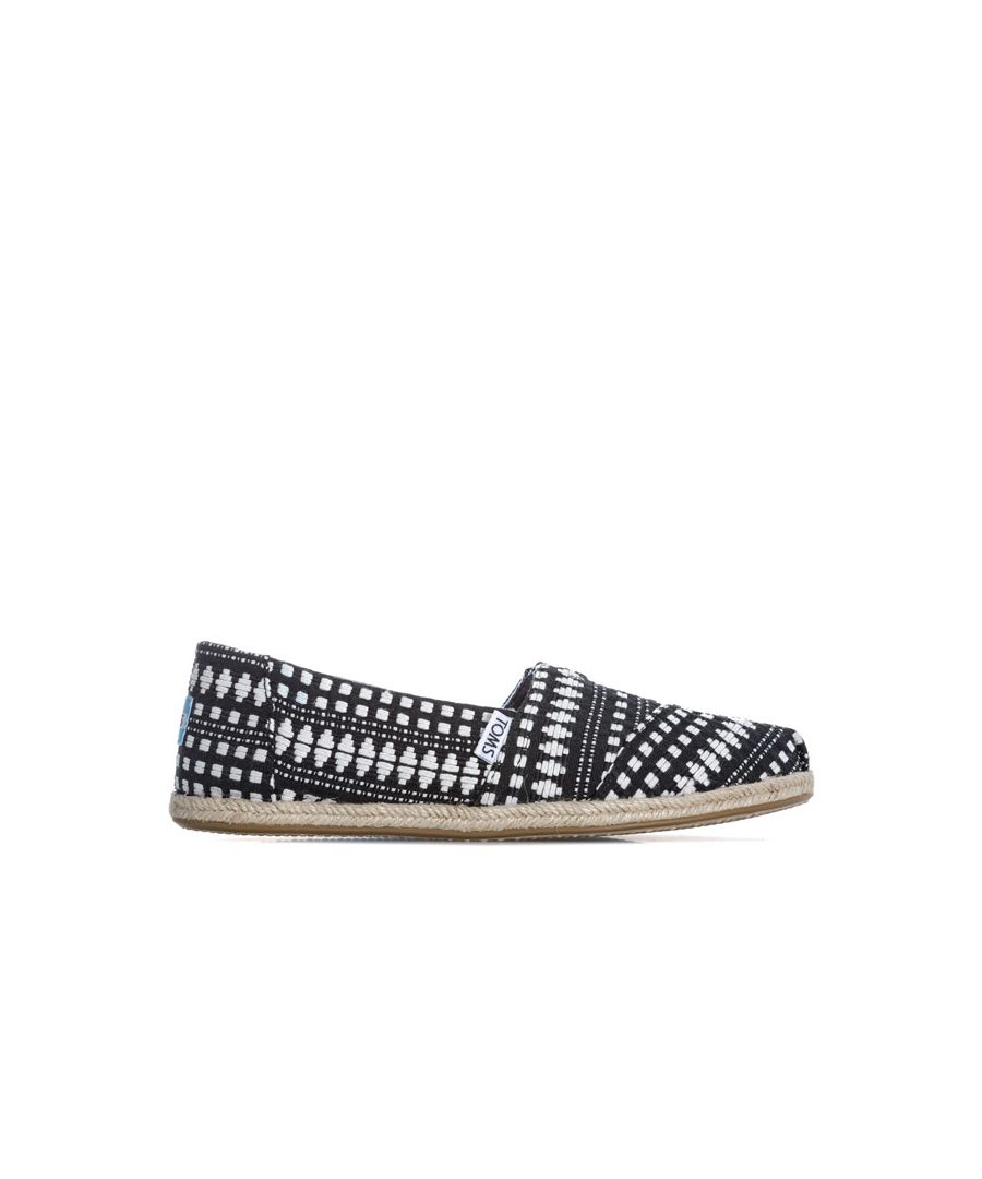 Image for Women's Toms Classics Diamond Espadrille Pumps in Black