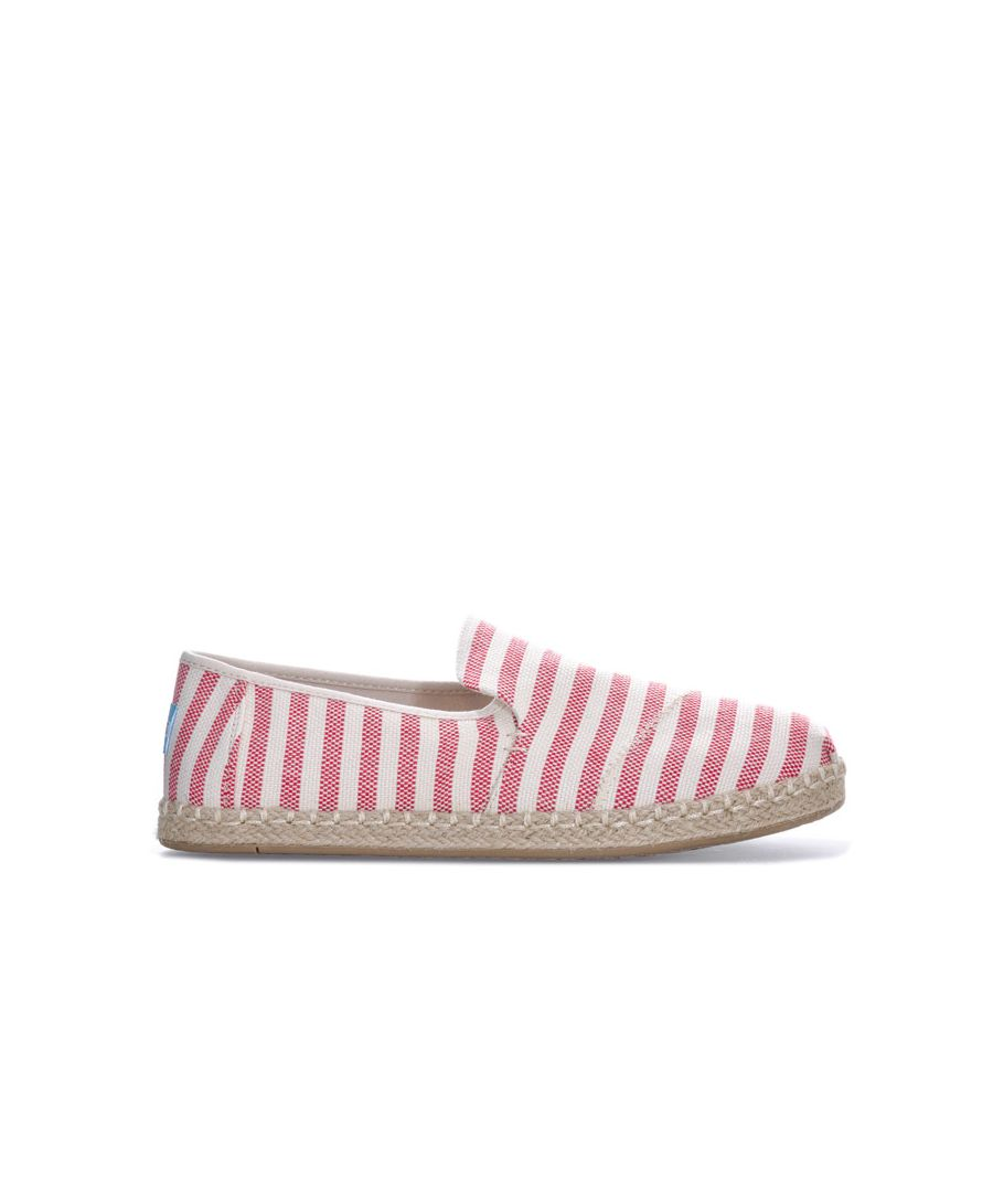Image for Women's Toms Stripe Deconstructed Espadrille Pumps in Red