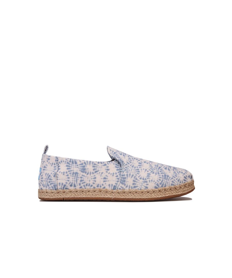 Image for Women's Toms Deconstructed Rope Espadrille Pumps in White blue