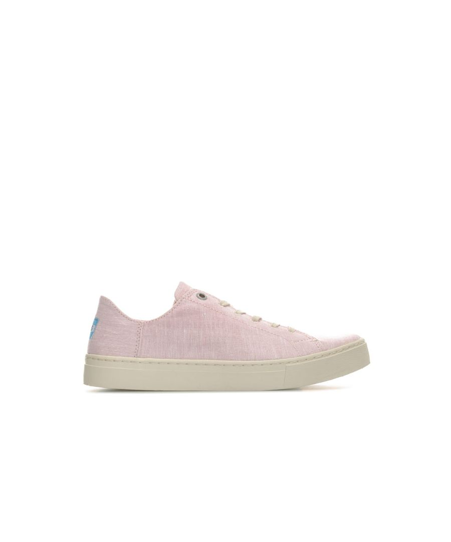 Image for Women's Toms Lenox Slub Chambray Sneakers in Pink