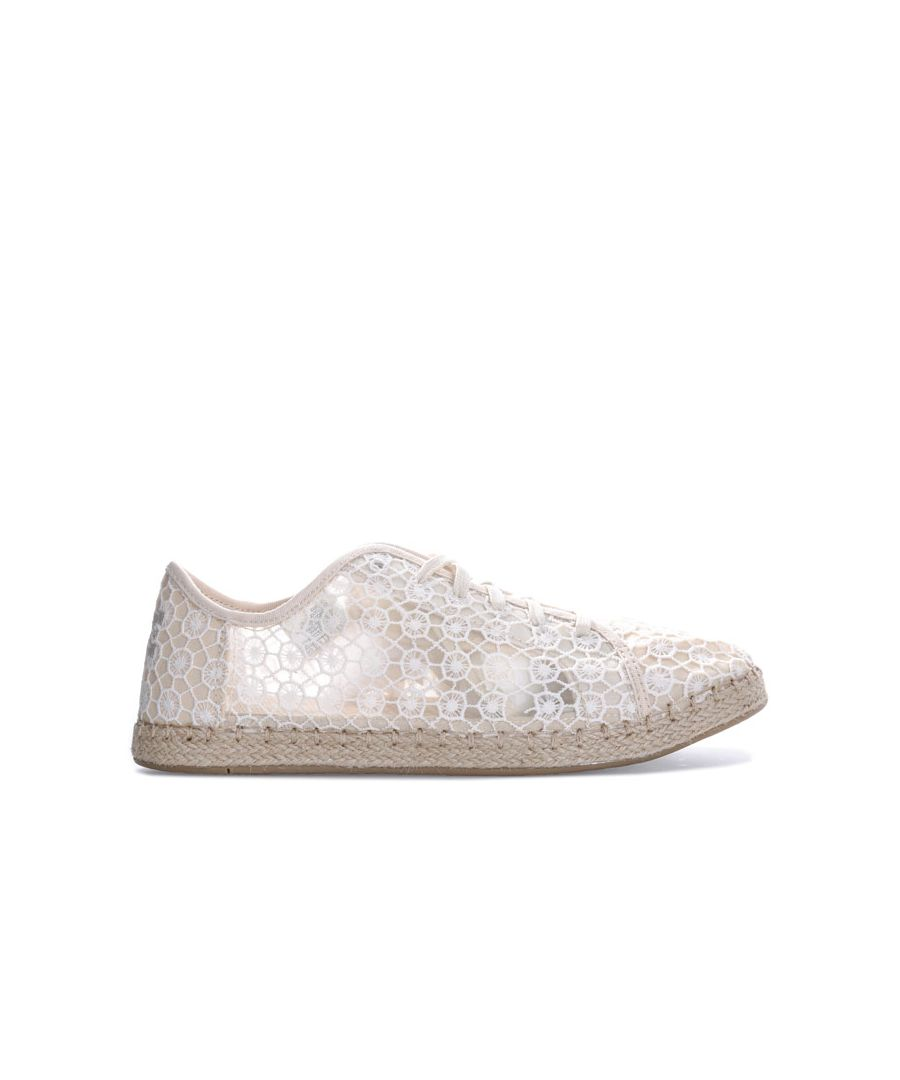 Image for Women's Toms Lena Mosaic Mesh Espadrille Sneakers in Natural
