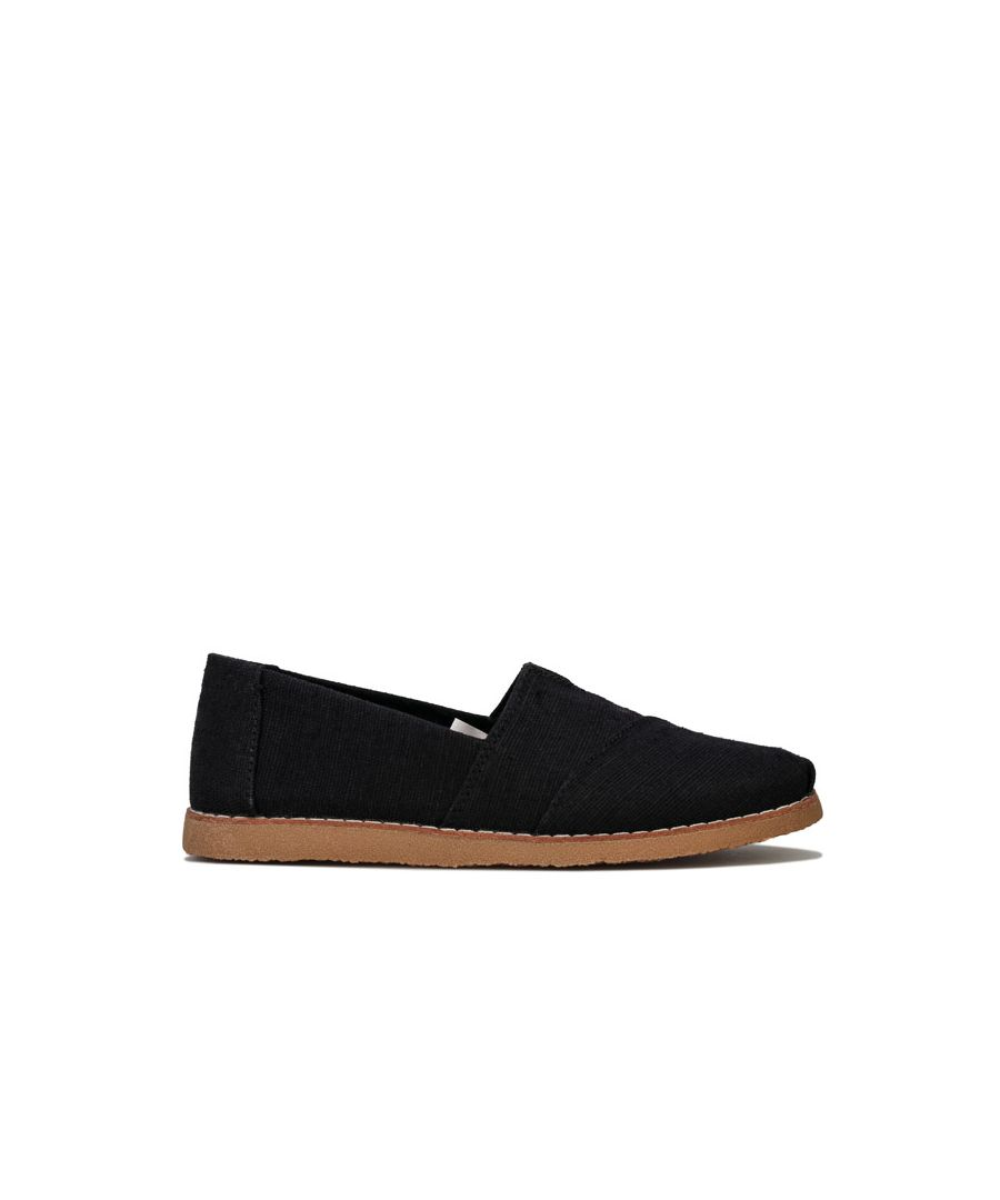 Image for Women's Toms Classics Heritage Canvas Espadrille Pumps in Black
