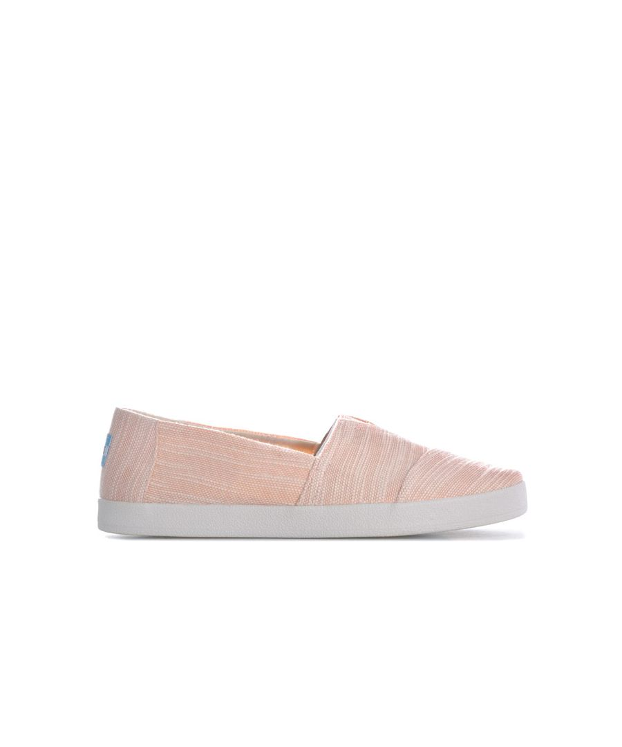 Image for Women's Toms Avalon Slubby Cotton Slip-On Pumps in Pink