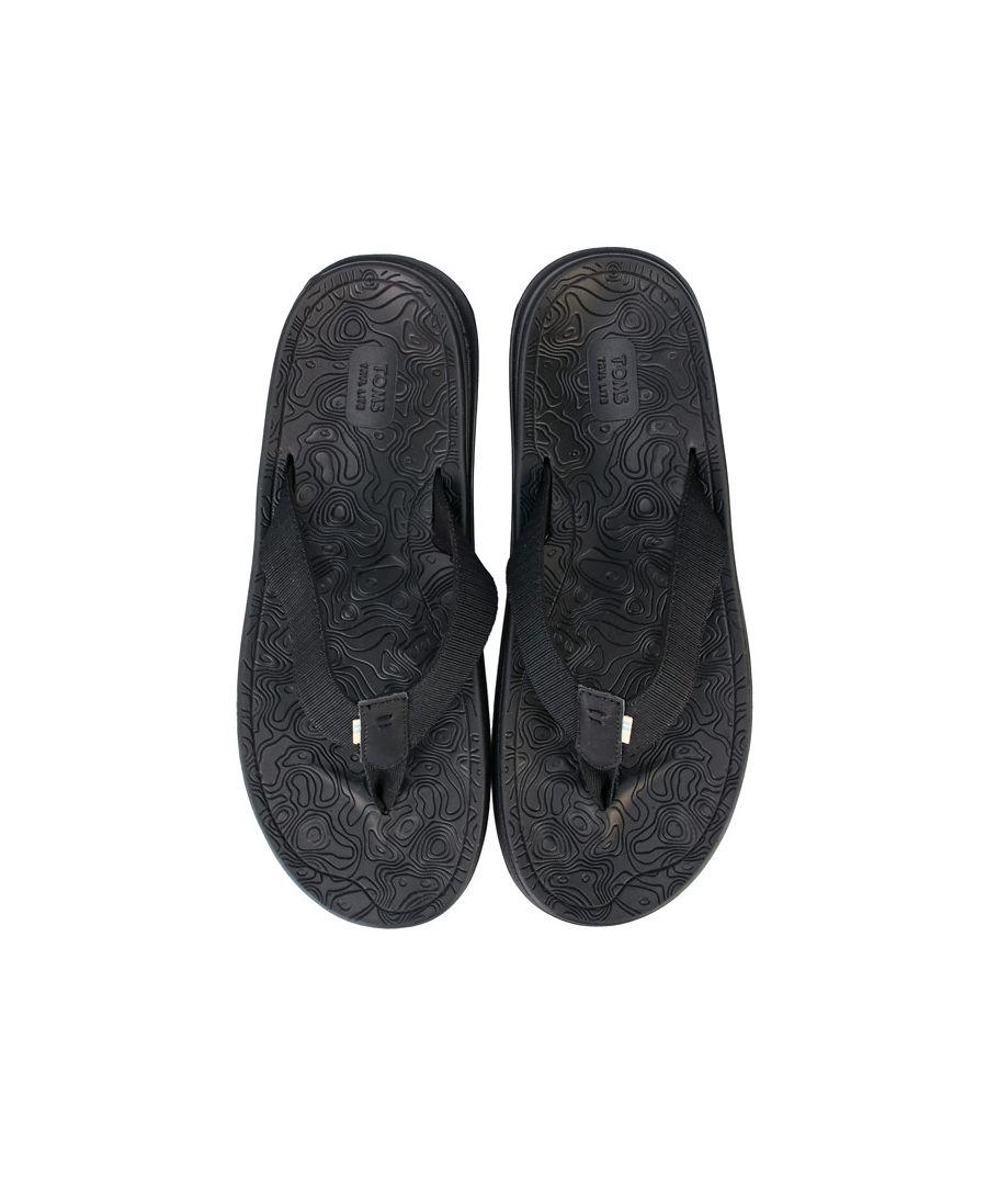 Image for Men's Toms TRVL Lite Flip Flops in Black