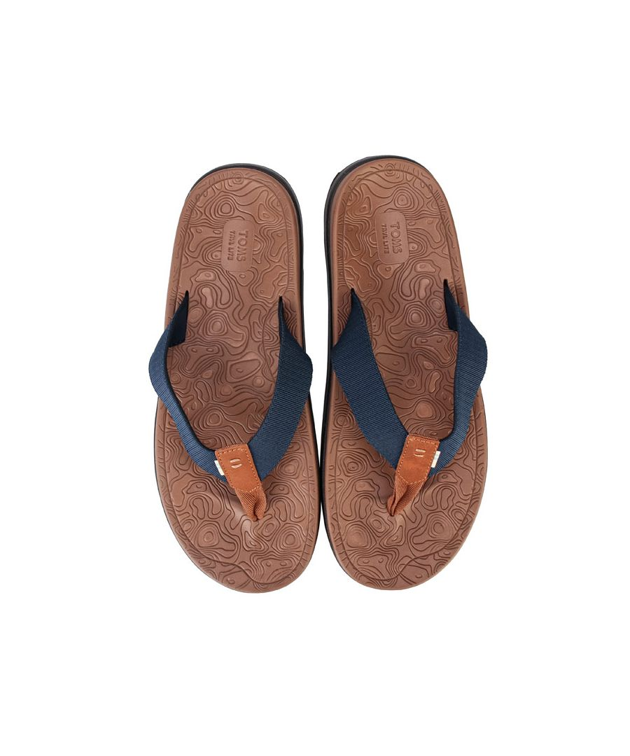 Image for Men's Toms TRVL Lite Flip Flops in Navy