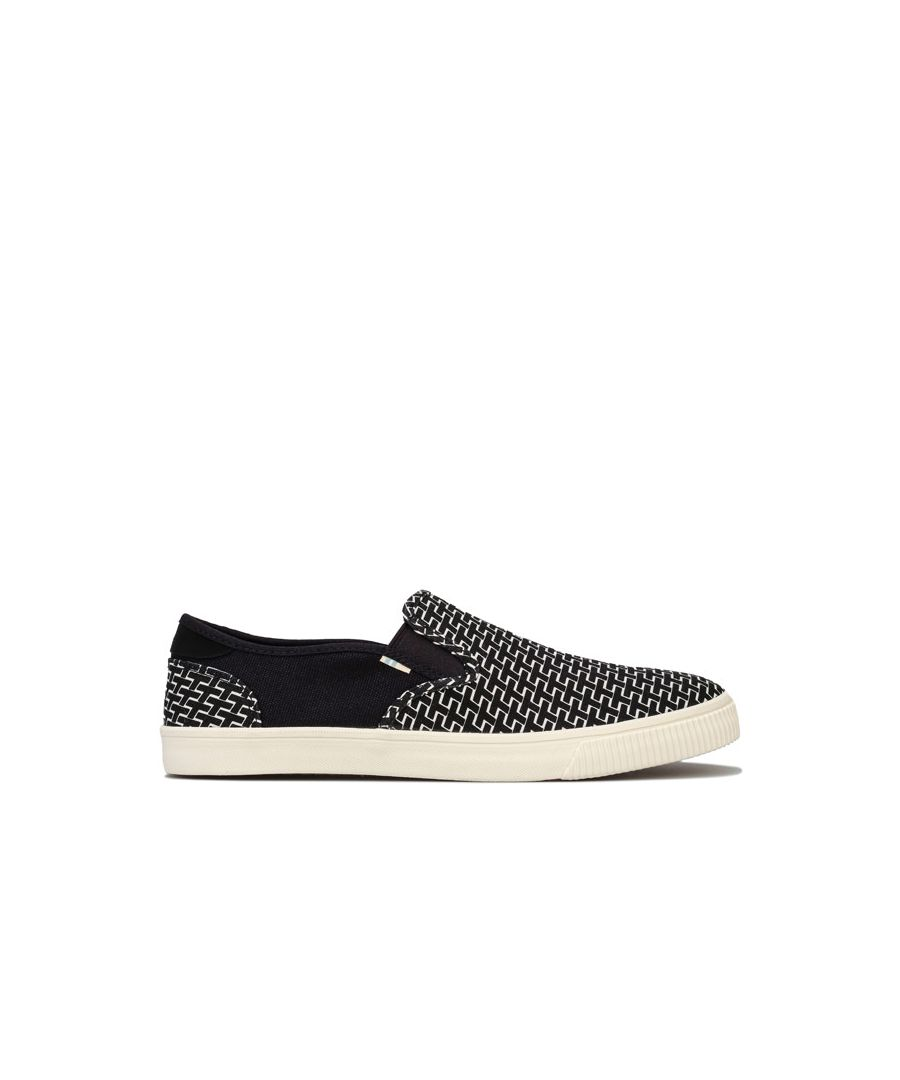 Image for Men's Toms Baja Canvas Slip on Shoes in Black