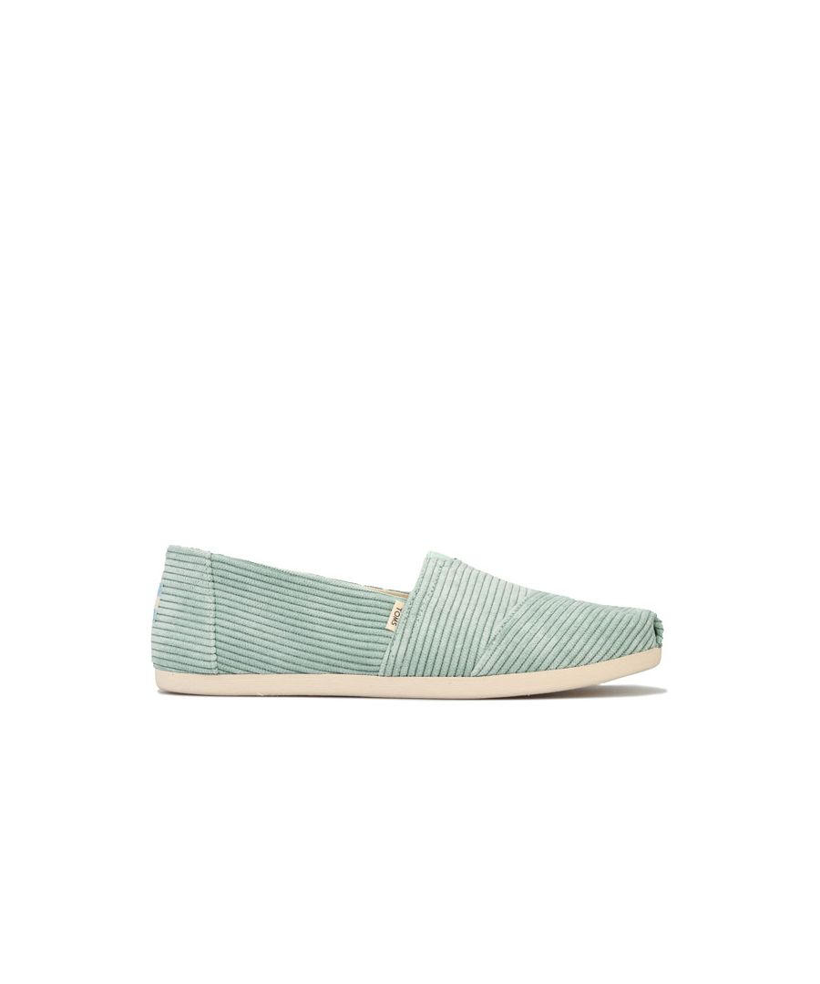 Image for Women's Toms Micro Cord Espadrille Pumps in Mint