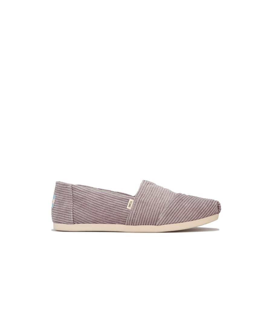 Image for Women's Toms Micro Cord Espadrille Pumps in Grey