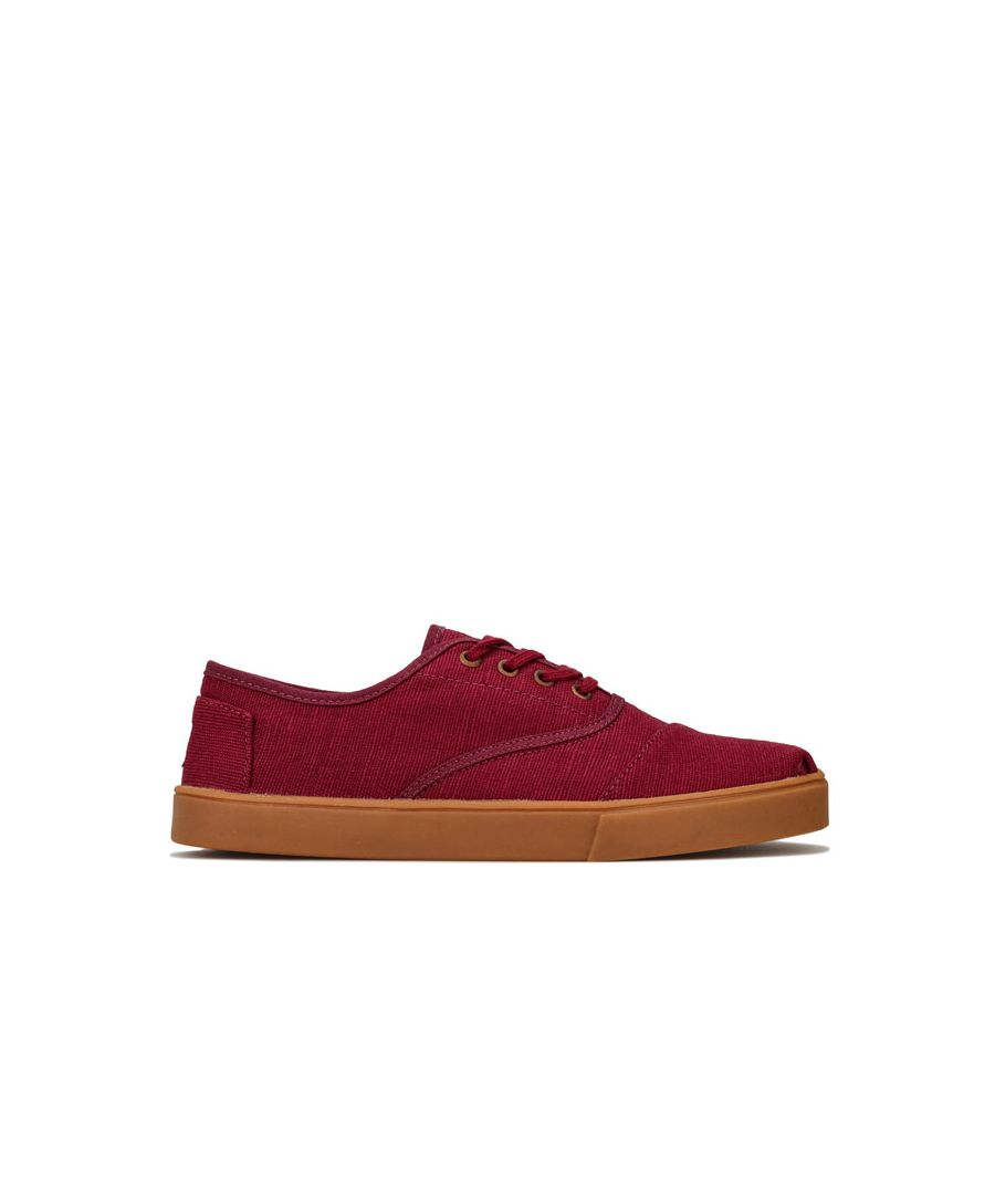 Image for Men's Toms Cordones Canvas Cupsole Shoe in Burgundy